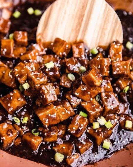 Pan fried Sweet n' Sour Tofu